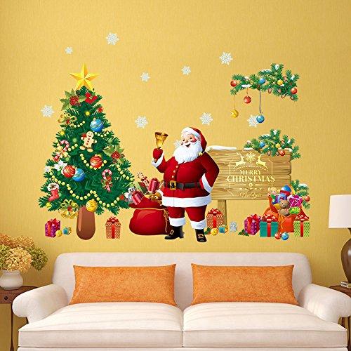 ShineBlue Grande Pegatinas Navidad arbol fiesta extraíbles