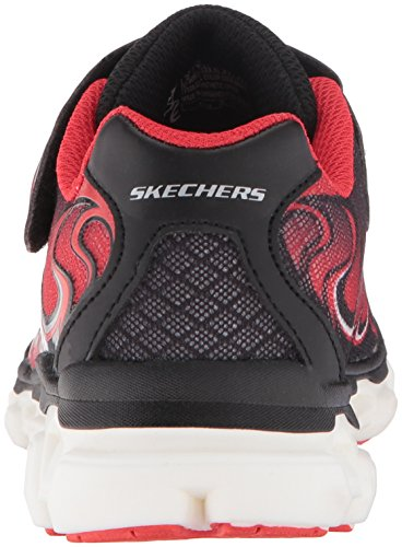 Skechers Kids Boys Rayz Secret Lights Sneaker Black/Red