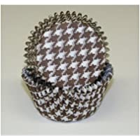 Chocolate Brown Houndstooth Cupcake Liners Standard Size