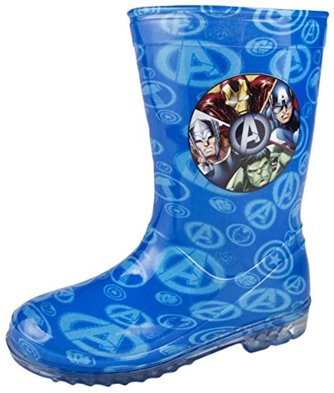 Boys Marvel Avengers Wellington Boots Kids Snow Wellies Mid Calf Boots Size UK 7-1