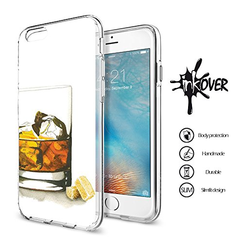 Cover iPhone 6 PLUS , Cover iPhone 6S PLUS - INKOVER - Custodia Cover Protettiva Guscio Soft Case Bumper Trasparente Sottile Slim Fit Tpu Gel Morbida INKOVER POKER DESIGN Carte Gioco Azzardo Texas Hol GIN LEMON