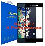 Sony Xperia X / X Performance Schutzfolie [3D gebogen Full Deckung] - 3D Curved Kante zu Kante gehärtetem Glas Displayschutzfolie mit 9H Härte für Sony Xperia X / Sony Xperia X Performance (Schwarz)