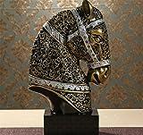 Cheval-Processus-Dcoration-Style-europen-Accueil-Chanceux-salon-Tte-de-cheval-gnrale-Meuble-TV-Bureau-Dcorations-Feng-shui-Ameublement-gold-b