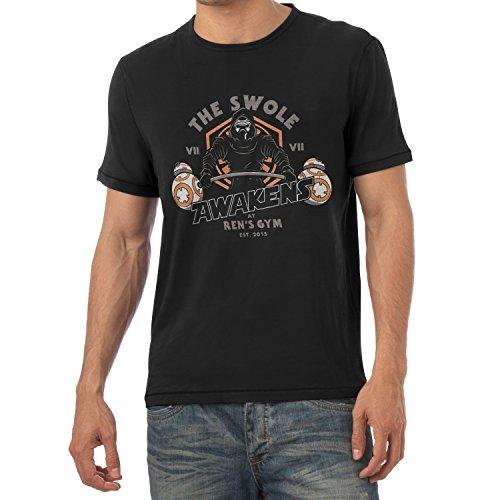 TEXLAB - The Swole - Herren T-Shirt, Größe XL, schwarz (Baby Luke Und Leia Kostüme)