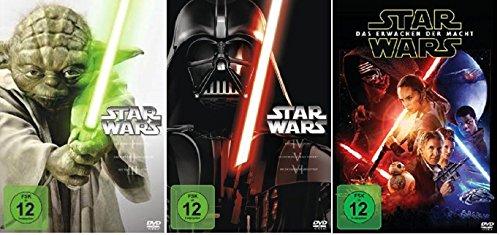 Star Wars Saga I-VI+VII (Teil 1+2+3+4+5+6+7) * DVD Set (inkl. Das Erwachen der Macht) (Star Wars Komplette Saga)