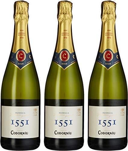 Codorniu Cava 1551 Brut Codorníu, 3er Pack (3 x 750 ml)