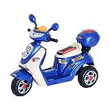 homcom Mini Moto Motorino Elettrico 6V per Bambini velocità 3KM/h con Luci e Musica in PP Blu, 108 x 51 x 75cm