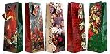 30 Geschenktüten Weihnachten Flaschentüten Kerzen Blumen Nüsse Jumbo XL 36 x 13 x 9 cm Weihnachtstüten Geschenktaschen Papier-Tragetaschen 22-3001