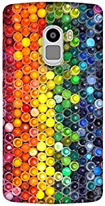 The Racoon Grip printed designer hard back mobile phone case cover for Lenovo K4 Note. (Crayons)
