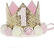 JMITHA Bambino corona Fasce fascia di fiore della neonata Cerchietto elastico Accessori per capelli a fiori