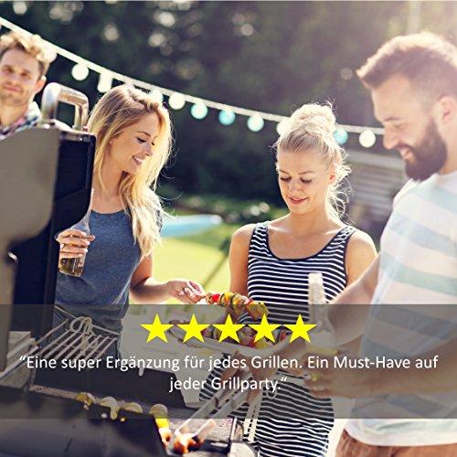 51xTN7Obw5L - Grill Republic Premium Hähnchen-Halter (BBQ-Rack) I Hähnchenschenkelhalter aus Edelstahl für bis zu 12 Keulen l Platzsparendes Grillzubehör als optimales Geschenk für Grillfans