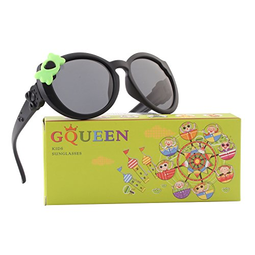 GQUEEN GQUEEN Gummi Flexible Polarisierte Kinder Sonnenbrille für Jungen Mädchen Baby und Kinder Alter 3-10,ET60