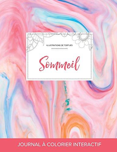 Journal de Coloration Adulte: Sommeil (Illustrations de Tortues, Chewing-Gum)