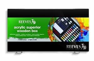 Reeves - Palette en Bois - Peinture Acrylique - 26 Tubes