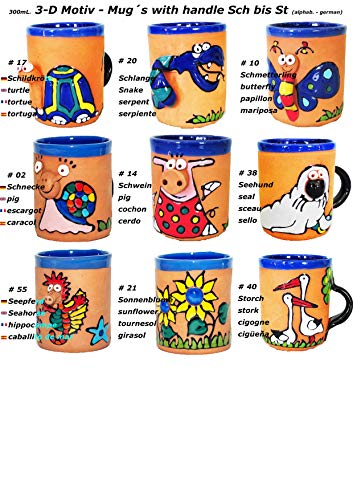 3-D Motiv - Tassen mit Henkel (Sch bis St) -