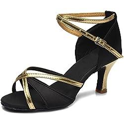 Zapatos de BAILE Negro de Satén HIPPOSEUS
