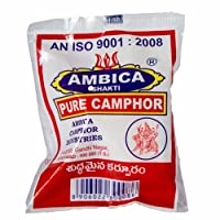 Mahavir Perfumers Ambika Shakti Pure Camphor 100gm Pack (pack of 1kg)