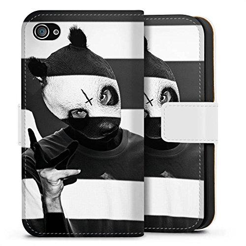 Apple iPhone 7 Hülle Case Handyhülle Cro Merchandise Fanartikel Crogestreift Sideflip Tasche weiß