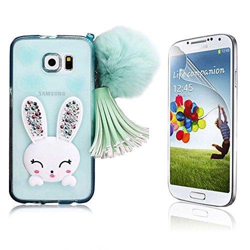 Samsung Galaxy S6 Edge Plus Caso, Samsung Galaxy S6 Edge Plus Cover, Bonice Ultra Sottile PC Hard Back Antiurto Shock-Absorption Durable Case Love + 1x Protezione Dello Schermo Screen Protector Pattern 02