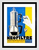 AD COFFEE PERCOLATOR FILTER MACHINE PUMP ACTION CAFFIENE FRANCE PRINT B12X6273