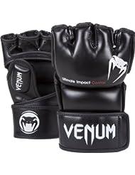 Venum Impact Guantes de MMA, Unisex adulto, Negro, S