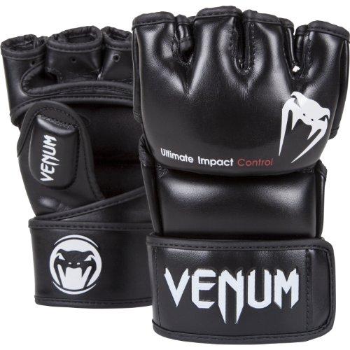 Venum Impact, Guanti MMA Unisex, Nero, M