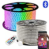 50M RGB LED Lichtband, LED Stripes 24 Tasten Fernbedienung Bluetooth Kontrolliert LED Streifen, GreenSun LED Lighting 60LEDs/m 5050SMD Lichterkette Wasserdicht IP65 Lampenband
