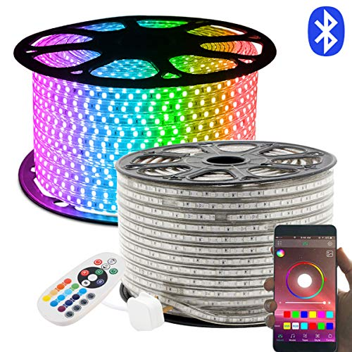 LED Strip, 20M RGB LED Streifen, Lichterschlauch 24 Tasten Fernbedienung Bluetooth Kontrolliert Lichtband, GreenSun LED Lighting Wasserdicht IP65 Lichterkette für Weihnachten, Party, Haus Deko