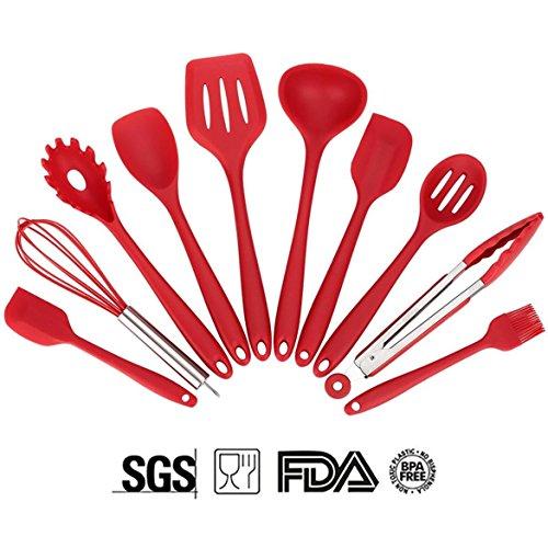 SOLEDI Küchenutensilien aus Silikon, Grillbesteck, Koch-Set -