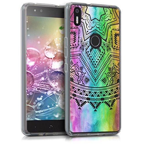 kwmobile bq Aquaris X5 Plus Hülle - Handyhülle für bq Aquaris X5 Plus - Handy Case in Mehrfarbig Pink Transparent