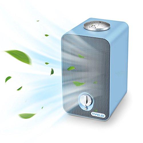Purificador Aire HEPA con Filtro Carbón Activo Luz UV, Elimina el 99.97% de Alérgias, PM2.5, Caspa de Mascotas, Humo, Olores, Moho, Polvo, Gérmenes, TOPELEK Purificador de Aire Hogar Silencioso Sirve para 20 ㎡ Mejor para Habitación Casa Cocina Oficina
