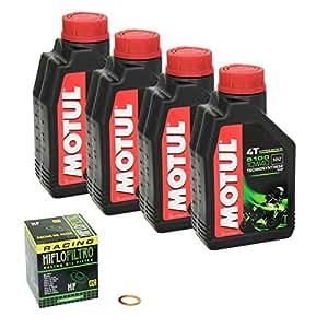 5100 (motul 10W - 40 huile hayabusa pour suzuki gSX-r (1300 1300 r) entre-temps, 99–13 hiFlo chrome et d'étanchéité pour filtre à huile