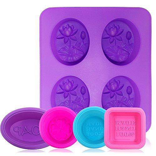 AFUNTA - Moldes de silicona para jabón 5 unidades