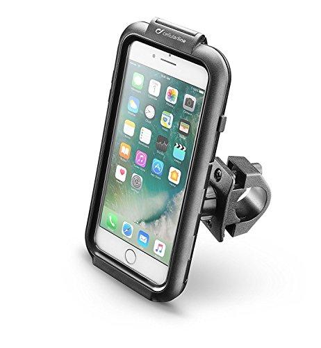 CellularLine Handyhalterung Fahrrad-Halterung für Apple iPhone 8 Plus, 7 Plus, 6 Plus, 6S Plus wasserdicht - Lenkradhalterung für Motorrad Lenker Handyhalter Case Schutzhülle - Hoch- Querformat - 6 Iphone Cover Handy Wasserdichte