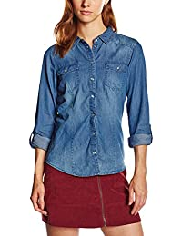 ONLY  Damen Regular Fit Hemd  Onlalwaysrock It Fit L/s Shirt Wvn Noos