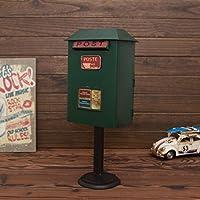 Preisvergleich für CQ Eisen Art Mailbox Ornament Nordic Cafe Startseite Kreative Postfach Garten Mailbox (Color : Green)