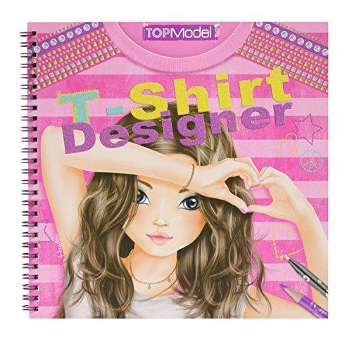 Imagen 9 de Depesche 7874 - Libro para colorear de diseños de camisetas para modelo - Top model t-shirt designer