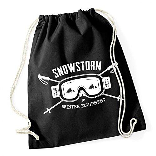 Snowstorm Borsa De Gym Nero Certified (Estrema Svizzera)