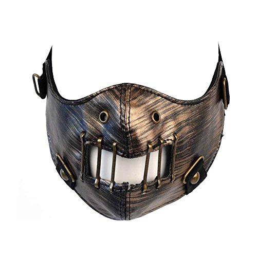 Windmaske Totenkopf Maske Kunstledermaske Sturmmaske Steampunk Tarnmaske Skimaske 87357 (Erwachsene Kostüme Halloween Für Kälte)