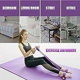 ANHAO Allenamento Multifunzionale di Resistenza Ginnico a 4 Tubi, Fasce Elastiche di Resistenza Yoga Fitness, per Palestra di casa (Giallo)
