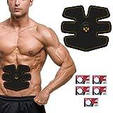 Ikeepi Ems Trainingsgerät Ems Training Ems Muskelstimulator Elektroden Pads für Muskelaufbau zu Hause, Elektrische Muskelstimulation für Bauch Arme Beine und Taille für Alle Körpergrößen