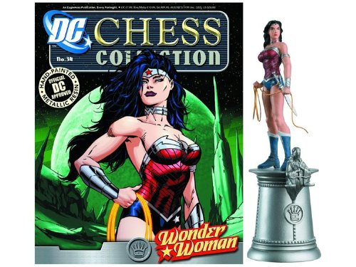 DC Chess Justice League Collector Figure & Magazine Wonder Woman White Queen by Eaglemoss (Magazine Womans)