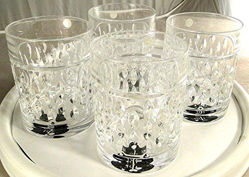 Ralph Lauren Aston Double Old Fashioned Cocktailgläser, deutsches Bleikristall, 4er Set 4 Double Old Fashioned Gläser