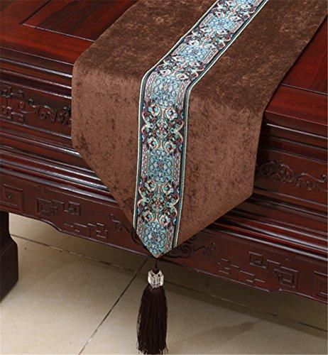 Sucastle 33X200cm Tuch Tischläufer Hochzeit Tischband ,abwaschbar (Farbe...