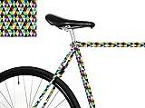 MOOXI-Bike Fahrrad-Folie Bunte Dreiecke für den Rahmen deines Fahrrads (ausreichend für Teilbereiche)