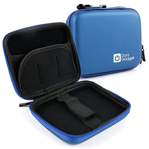 DURAGADGET Excelente Funda Rígida Azul Para Smartwatch Garmin Edge 1000 / Fenix 3 HR Silver / Sapphire HR / Oregon 700 / Vivomove / Vivosmart HR+   Con Mini Mosquetón