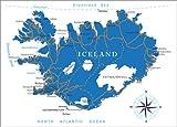Poster 70 x 50 cm: Island von Editors Choice - hochwertiger