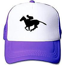 Liumiang Sombreros Gorras de béisbol,Breathable Mesh Baseball Hat Dad Trucker Vintage Style Horse Racing