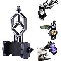 Libershine Soporte Universal para Teléfono Móvil de Metal para Adaptador de Telescopio para Teléfono Móvil - Compatible con Telescopio Binocular y Soporte para Microscopio
