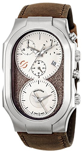 Philip Stein Men's 300-SBE-CASTBR Swiss Signature Analog Display Swiss Quartz Brown Watch